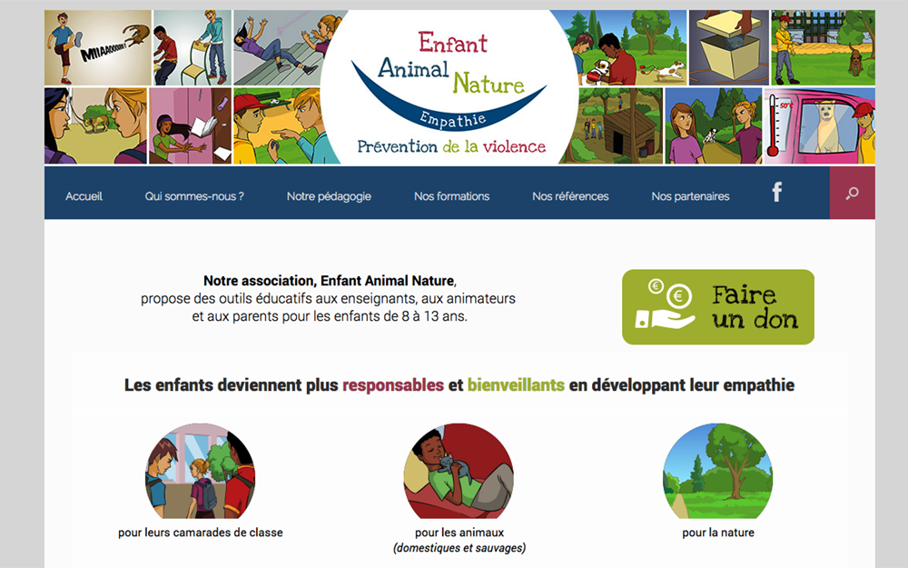 Site web Enfant Animal Nature